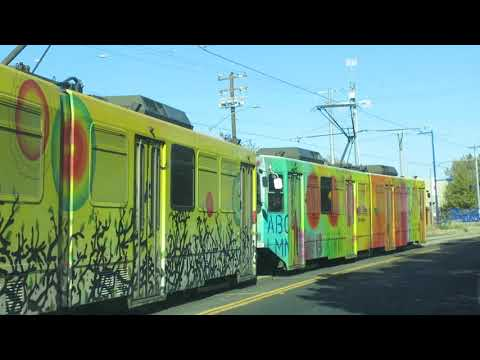 "Sacramento Regional Transit ""Arty"" Light Rail Trains"