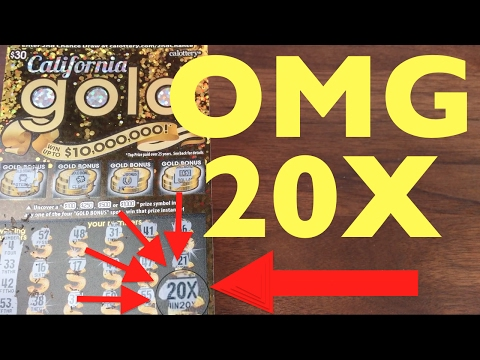 OMG HUGE WINS TWICE?! UNBELIEVABLE SCRATCHER WINS!!! California Gold $30 Scratcher