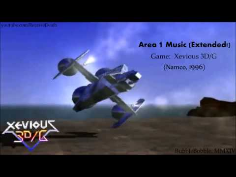 Xevious 3D/G (Arcade) - Area 1 Music (Extended)