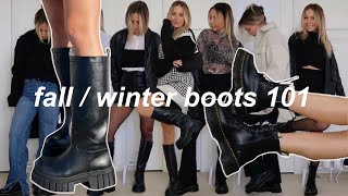 how to style boots for fall & winter