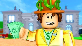 ROBLOX-TEX BECAME RICH in the MILLIONAIRE MANSION (Rob The Mansion Obby)