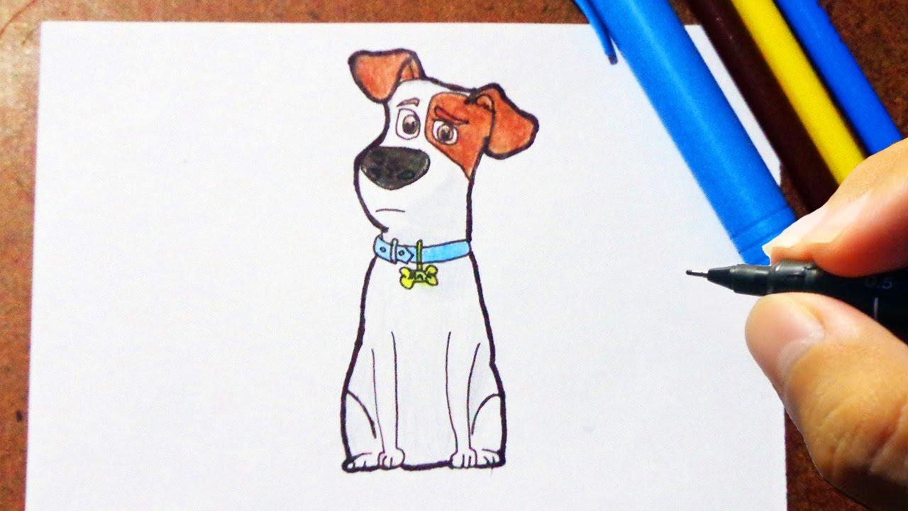 Como Desenhar e Pintar o MAX Pets A Vida Secreta dos Bichos, How to Draw
