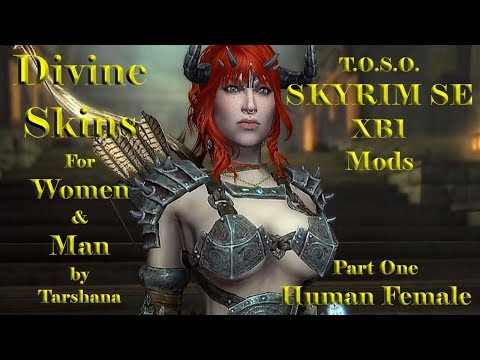 Skyrim Mods XB1 Divine Skins Nord Goddess by S & Tarshana For Women & Men HD TOSO from YouTube · Duration:  5 minutes 16 seconds