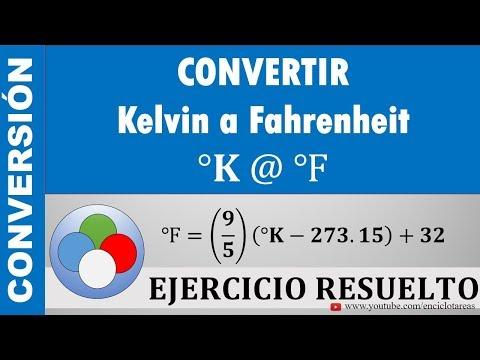 Conversión de Grados Kelvin a Grados Fahrenheit (K a F)