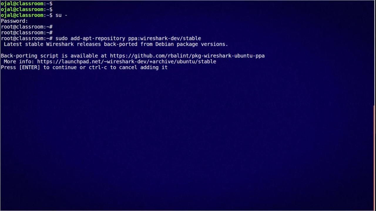 Install Wireshark on Ubuntu 16