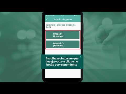 Eleições 2021 - Tutorial de votação pelo aplicativo