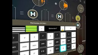 HARMONIZR AUv3 - Testing With Vocals - Guitar & Synth - Demo for the iPad