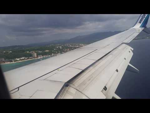 Landing in Montego Bay Jamaica on West Jet