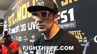 JOHN MOLINA GIVES GRIM WARNING TO VICTOR ORTIZ; EXPLAINS WHY HE'S TRAINING TO