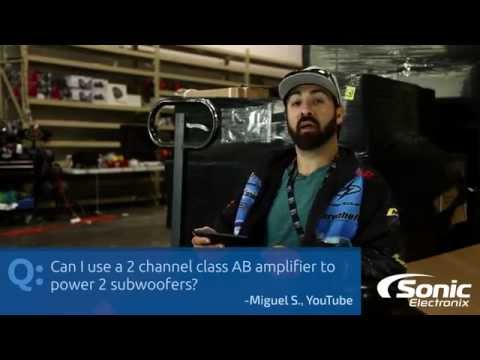 Can I Use a Two Channel Class AB Amp for Two Subs? | Car Audio Q & A