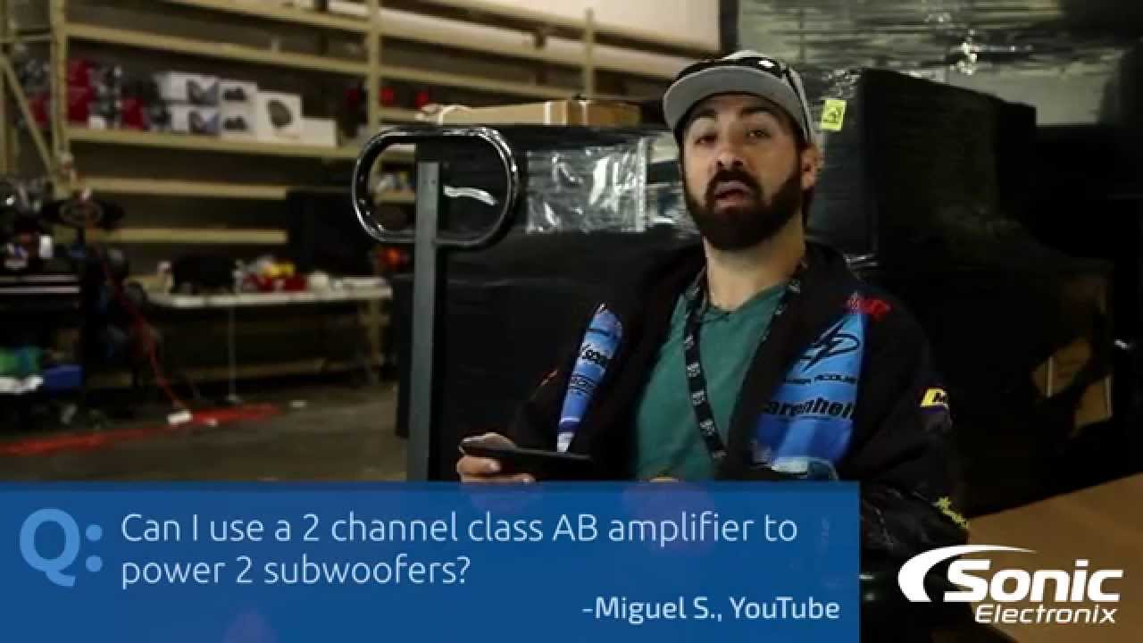Can I Use A Two Channel Class Ab Amp For Subs Car Audio Q In Addition 2 4 Ohm Dvc To On Wiring Youtube