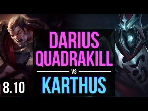 DARIUS vs KARTHUS (TOP) ~ Quadrakill, 1200+ games, Dominating ~ Korea Challenger ~ Patch 8.10