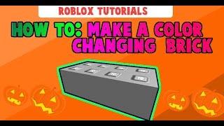 Roblox►How To Make a Color-Changing Brick