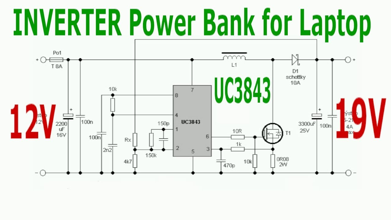 Laptop Power Bank INVERTER with UC3843