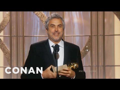 Alfonso Cuaron's Awkward Golden Globes Speech