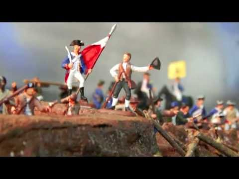 Battle of Bunker Hill Diorama - 1:72 scale model with hand painted 24mm soldiers