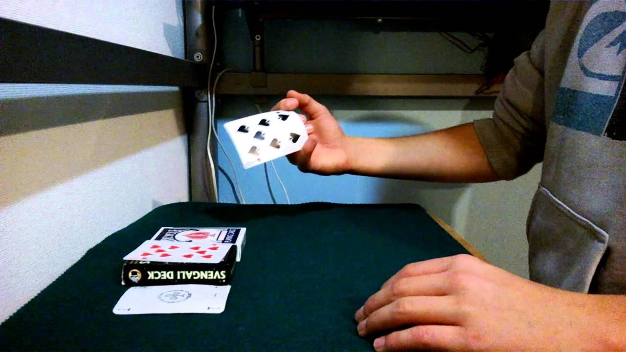 tour de magie carte qui disparait