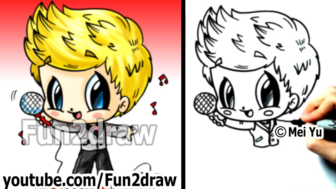One direction niall horan drawing tutorial 1d chibi one one direction niall horan drawing tutorial 1d chibi one direction drawings cute art fun2draw youtube voltagebd Images