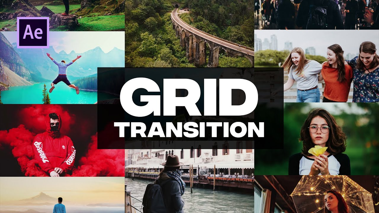 Trendy Grid Transition in After Effects - After Effects Tutorial