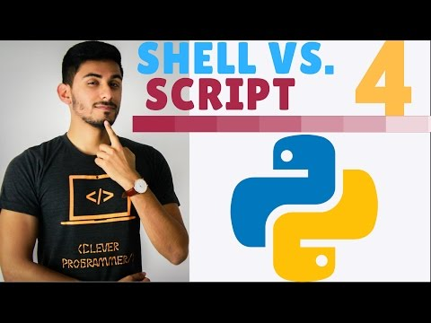 Learn Python Programming – 4 – Interactive Shell vs. Script