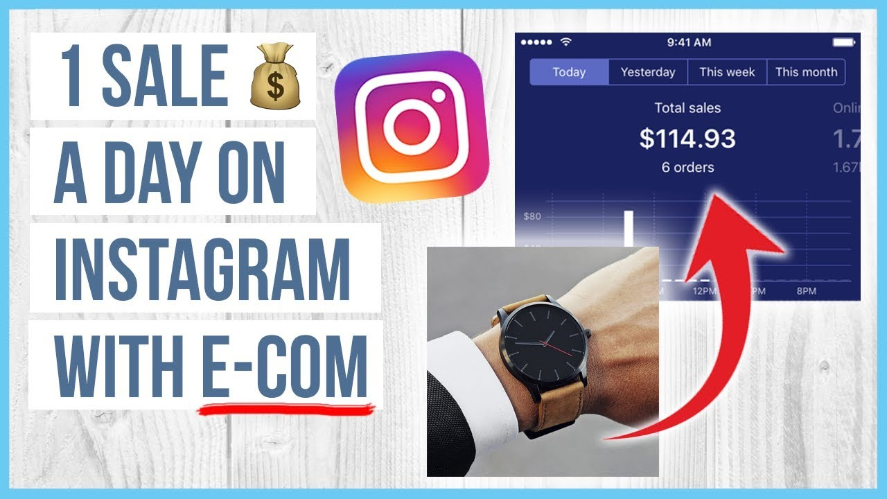 ???? How To Sell 1 Product A DAY On Instagram With E-COMMERCE / Shopify ????