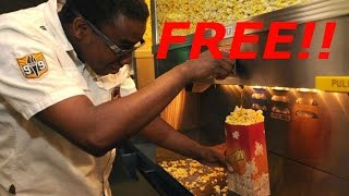 How to get free popcorn at the movies