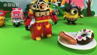 變形警車珀利的變形消防車羅伊給女朋友超級飛俠小愛買情人節禮物啦!