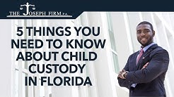 5 Things You Need to Know About Child Custody in Florida