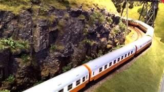 Modelleisenbahn - Züge Züge Züge im Erzgebirge - model railroad with many trains