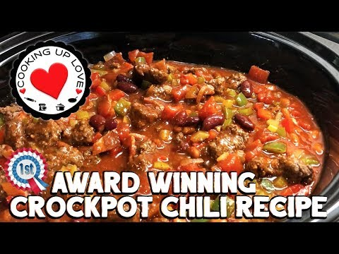 Crockpot Chili Recipe - Award Winning Chili Recipe | Potluck Recipes | Cooking Up Love
