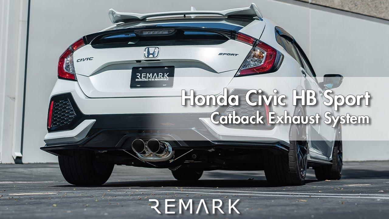 remark honda civic hatchback sport catback exhaust system
