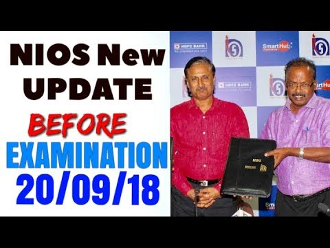 NIOS Examination New Update || 20/09/18 All Teacher Must Watch and share ||