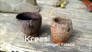 Gelas Unik dari Batok Kelapa