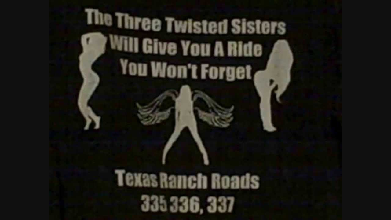 Twisted Sisters Texas Map