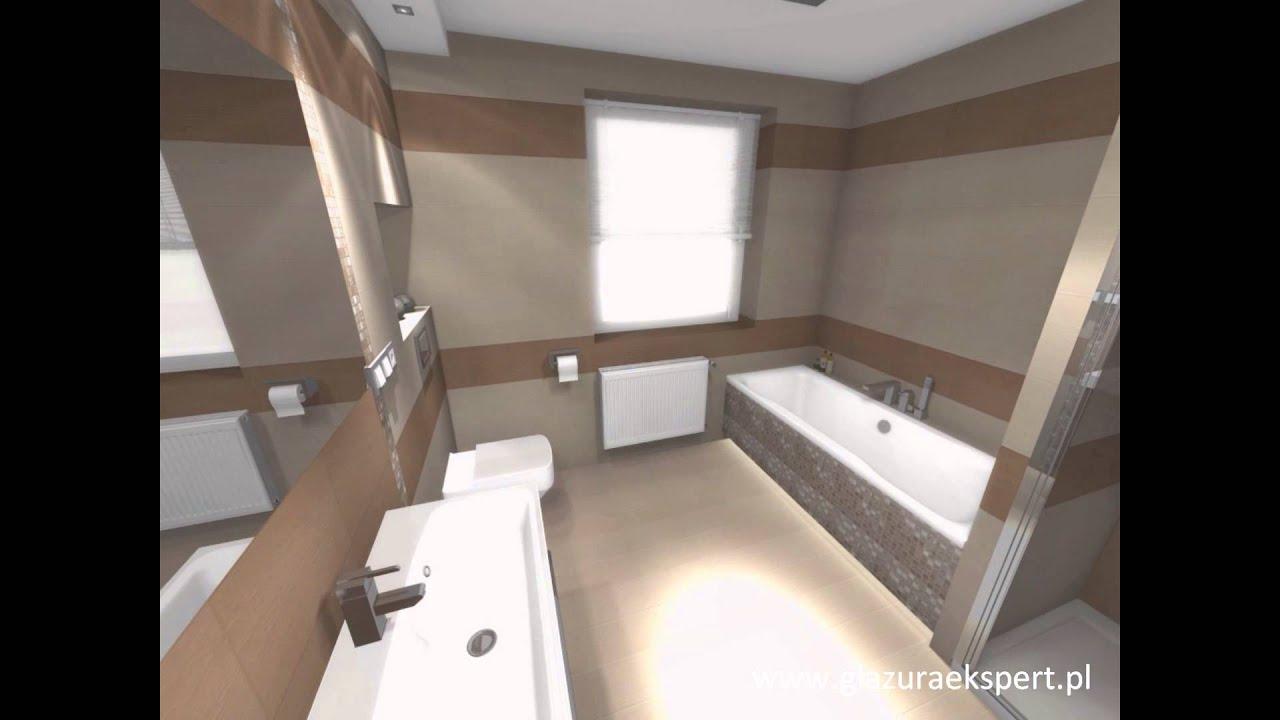 Aranżacja łazienki Domino Bali Salon łazienek Glazura Ekspert