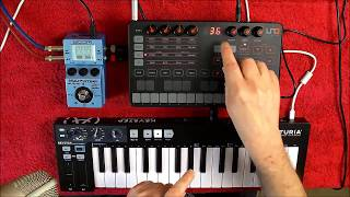 IK Multimedia UNO Synth - Arturia KEYSTEP & Zoom MS-70CDR - Set Up Tutorial