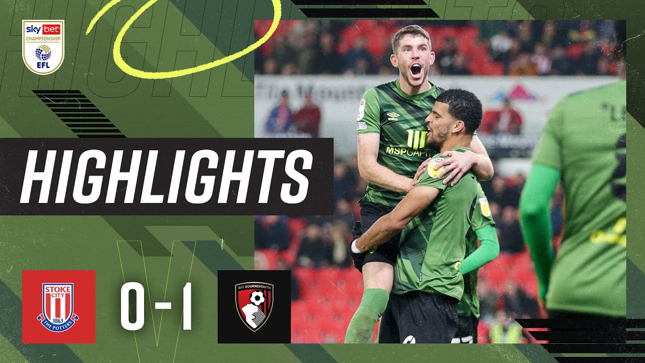 Solanke earns midweek win in Stoke   Stoke City 0-1 AFC Bournemouth