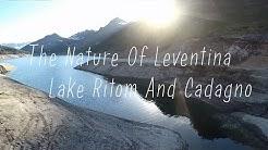 The nature of Leventina, lake Ritom and Cadagno