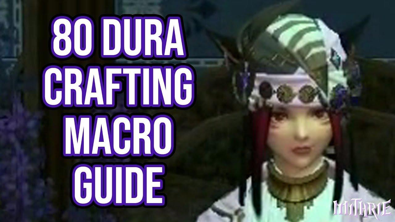FFXIV 2 0 0127 Crafting Macro 2 Star 80 Dur (60 Sec Guide)