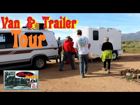 Living In A Converted Trailer & Chevy G20 Van
