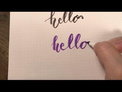 Modern calligraphy using nuvo brush script pens youtube