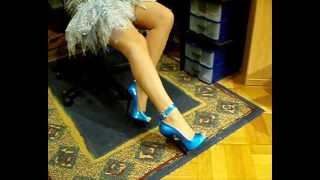 6inchforever blue highheels.wmv