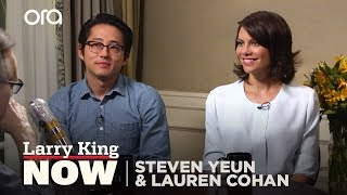 The Walking Dead's Steven Yeun and Lauren Cohan Open Up On Filming Sex Scenes thumbnail