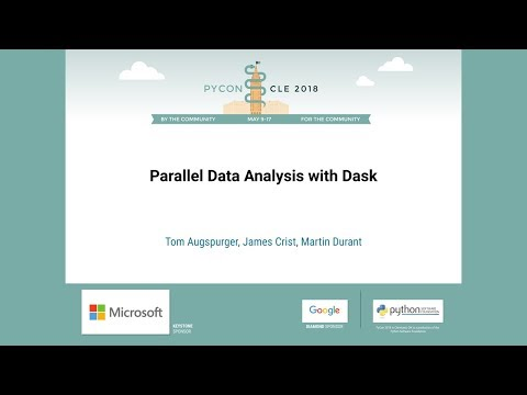 PyVideo org · Parallel Data Analysis with Dask