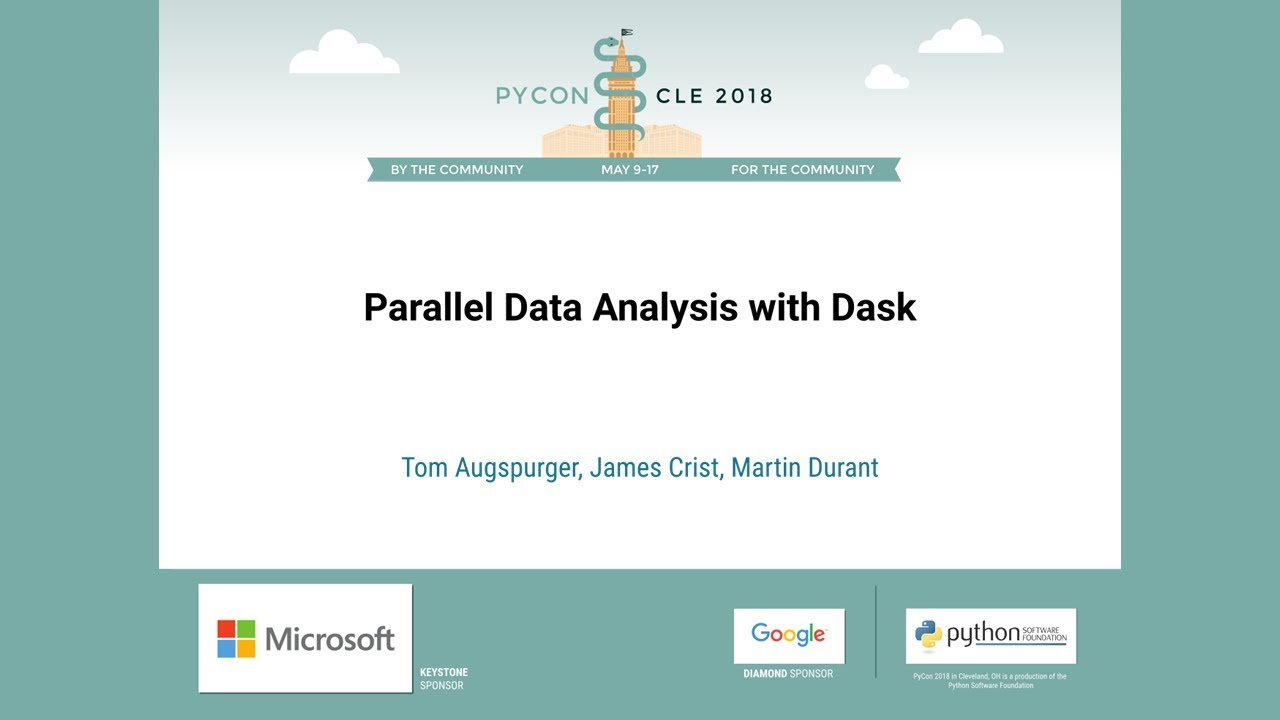 Image from Parallel Data Analysis with Dask