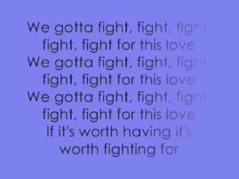 Cheryl Cole - Fight For This Love -Lyrics