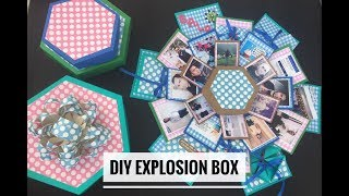 How to make Explosion Box| Hexagon Explosion Box| Exploding Box | DIY Explosion Box| Soumya Dubey
