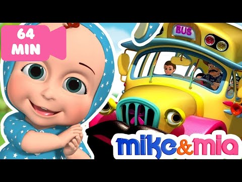 Wheels On The Bus | Collection of Popular Nursery Rhymes for Children | Kids Songs by Mike and Mia