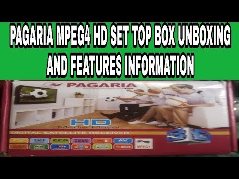 PAGARIA MPEG4 HD SET TOP BOX UNBOXING AND FEATURES INFORMATION