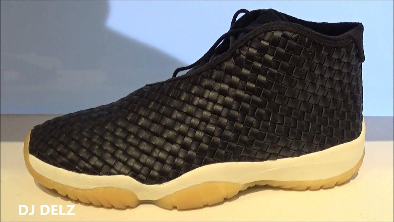 69b13fb791b868 Air Jordan Leather Future Premium Woven Black Gum Bottom Sneaker Review +  Sizing With Dj Delz
